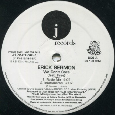 Erick Sermon Feat. Free - We Don't Care