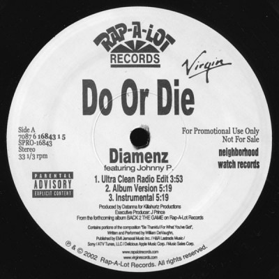 Do Or Die - Diamenz / Sex Appeal