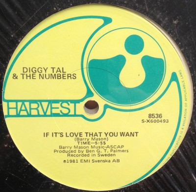 Diggy Tal & The Numbers - If It's Love That You Want