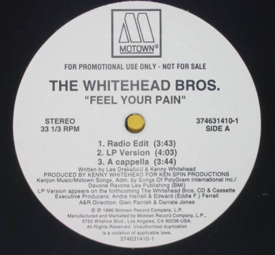 Whitehead Bros. - Feel Your Pain