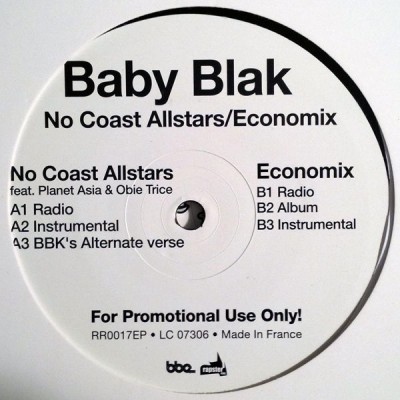 Baby Blak - No Coast Allstars / Economix
