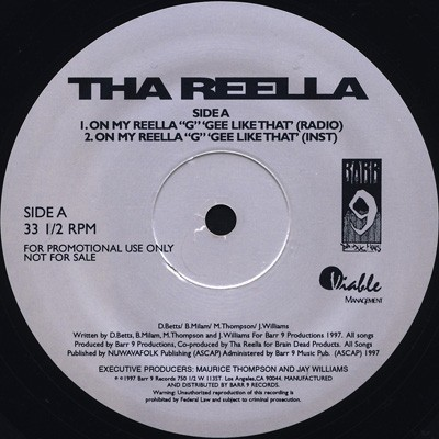 "Tha Reella - On My Reella ""G"" Like That"