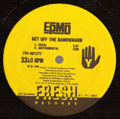 EPMD - I'm Housin' / Get Off The Bandwagon