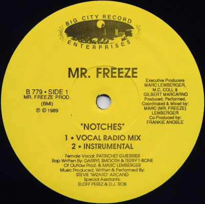 Mr. Freeze - Notches