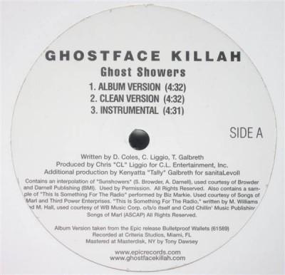 Ghostface Killah - Ghost Showers / Ice / Hilton