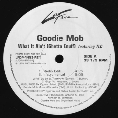 Goodie Mob - What It Ain't (Ghetto Enuff)