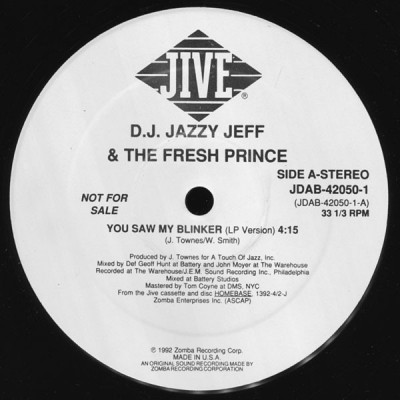 DJ Jazzy Jeff & The Fresh Prince - You Saw My Blinker