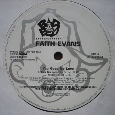 Faith Evans - You Gets No Love
