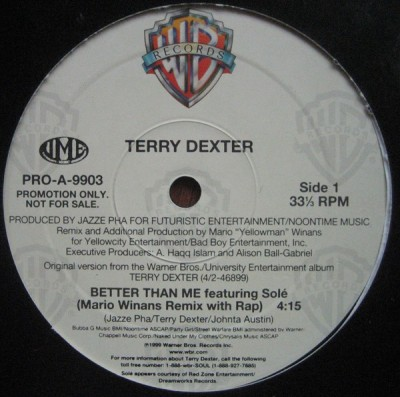 Terry Dexter Featuring Solé - Better Than Me