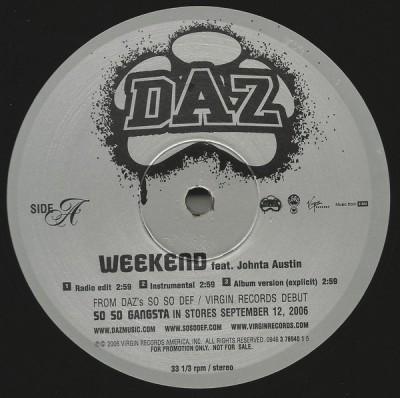 Daz Featuring Johnta Austin - Weekend