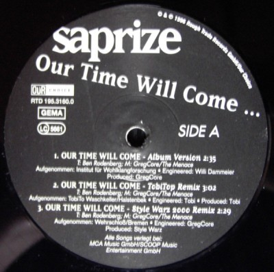 Saprize - Our Time Will Come ...