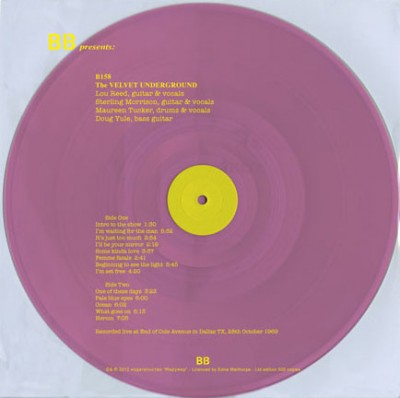 The Velvet Underground - Live At End Of Cole Avenue In Dallas, TX, 28th October 1969