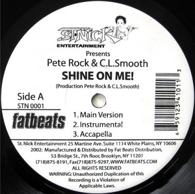 Pete Rock & C.L. Smooth - Shine On Me / Climax