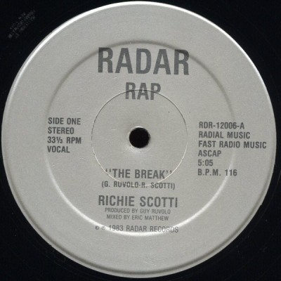 Richie Scotti - The Break / Breaker