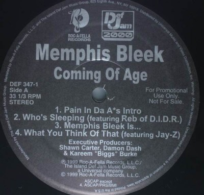 Memphis Bleek - Coming Of Age