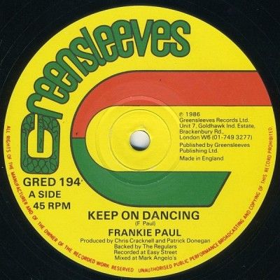 Frankie Paul - Keep On Dancing