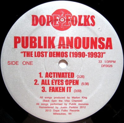 Publik Anounsa - The Lost Demos (1990-1993)