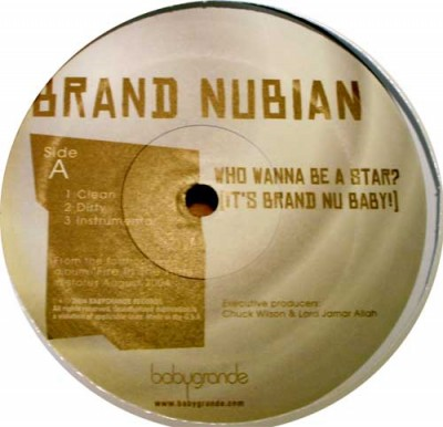 Brand Nubian - Who Wanna Be A Star? (It's Brand Nu Baby!) / Just Don't Learn