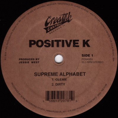 Positive K - Supreme Alphabet