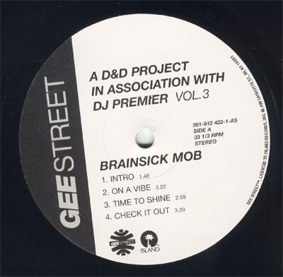 Brainsick Mob - A D&D Project In Association With DJ Premier Vol. 3