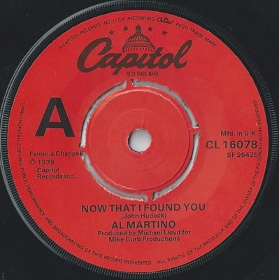 Al Martino - Now That I Found You