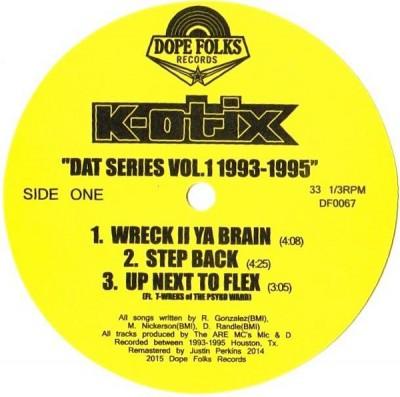 K-Otix - DAT Series Vol. 1 1993-1995