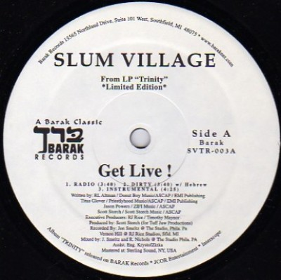 Slum Village - Get Live! / One