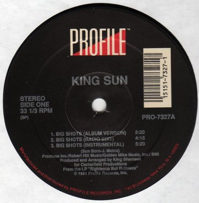 King Sun - Big Shots