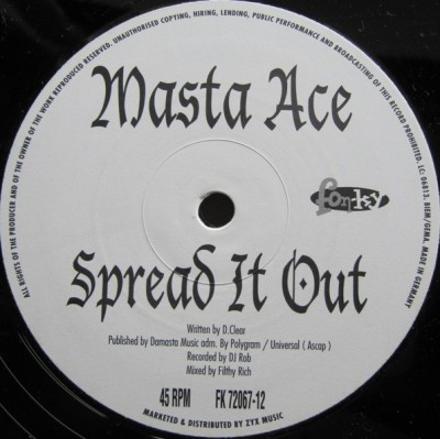 Masta Ace - Spread It Out / Rap 2K1