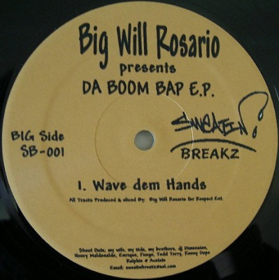 Big Will Rosario - Presents DA BOOM BAP E.P.