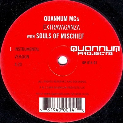 Quannum MC's - The Extravaganza / Looking Over A City