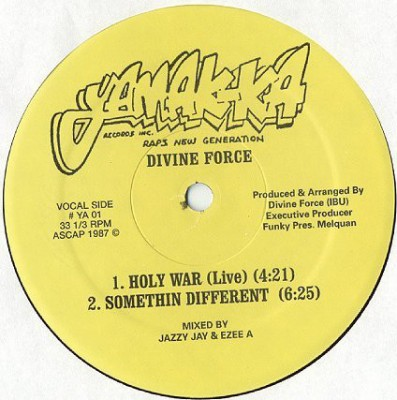 Divine Force - Holy War (Live) / Somethin Different