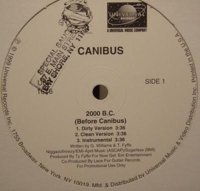 Canibus - 2000 B.C (Before Canibus)