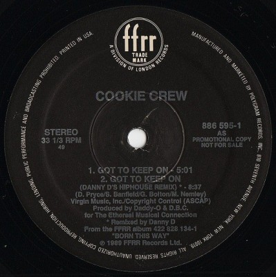 The Cookie Crew - Got To Keep On