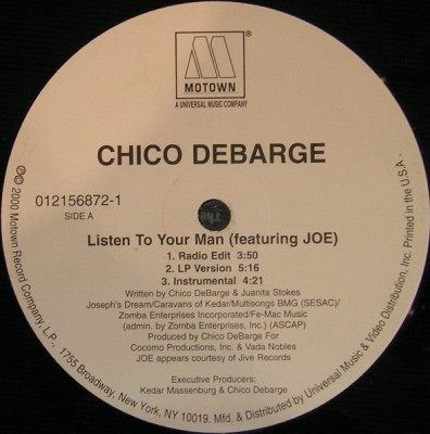 Chico DeBarge - Listen To Your Man