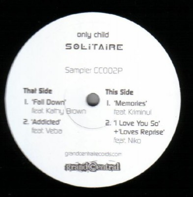 Only Child - Solitaire - Album Sampler